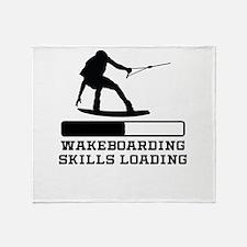 Wakeboarding Skills Loading Throw Blanket