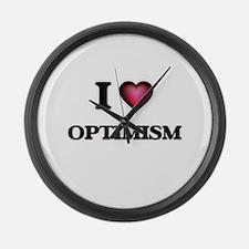 I Love Optimism Large Wall Clock