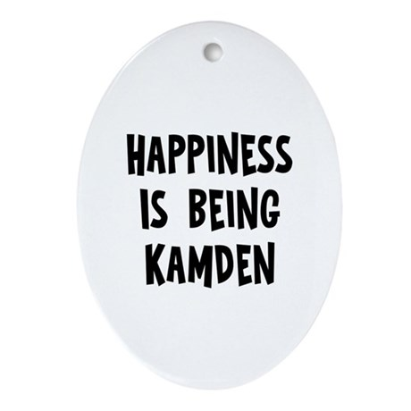Happiness is being Kamden Oval Ornament