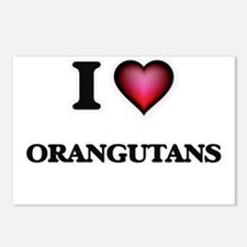 I Love Orangutans Postcards (Package of 8)
