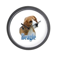 Beagle Name Wall Clock