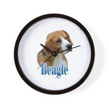 Beagle Name Wall Clock