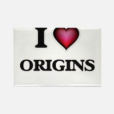 I Love Origins Magnets