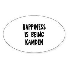 Happiness is being Kamden Oval Decal
