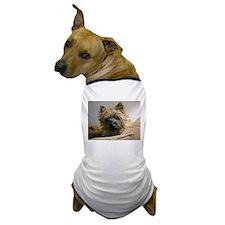 Pensive Cairn Terrier Dog T-Shirt