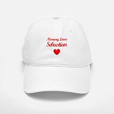 Mommy Loves Sebastian Baseball Baseball Cap