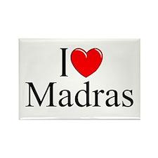 """I Love Madras"" Rectangle Magnet"