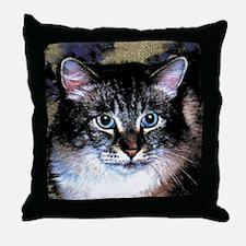 Maine Coon Cat Portrait Throw Pillow