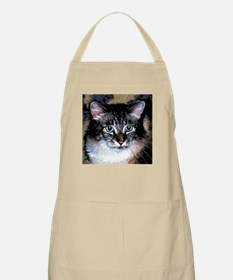 Maine Coon Cat Portrait BBQ Apron