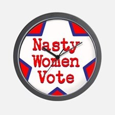 Nasty Women Vote Wall Clock