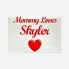 Mommy Loves Skyler Rectangle Magnet