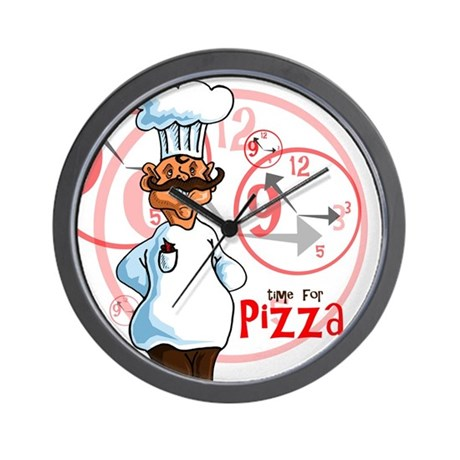 """""""Time for pizza"""" Clock"""