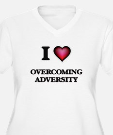 I Love Overcoming Adversity Plus Size T-Shirt