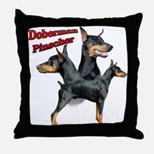 Dobie Trio2 Throw Pillow