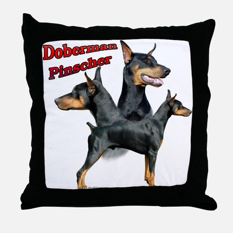 Dobie Trio2 Throw Pillow