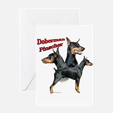 Dobie Trio2 Greeting Card