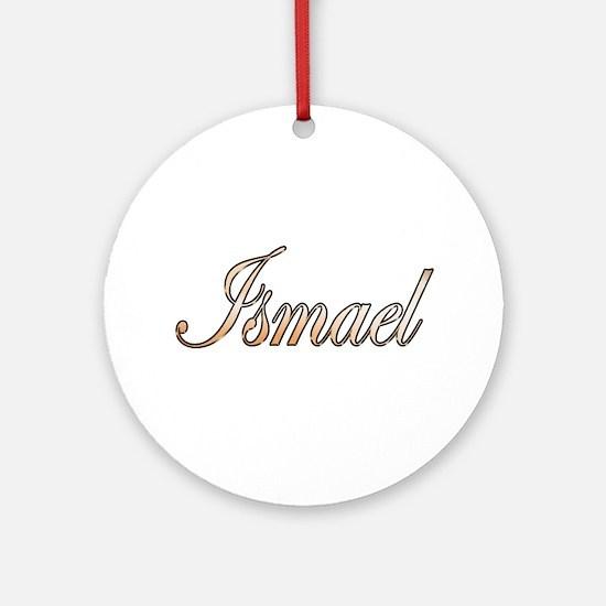 Cute Ismael Round Ornament
