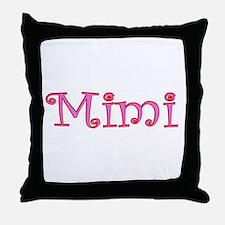 Mimi cutout click to view Throw Pillow