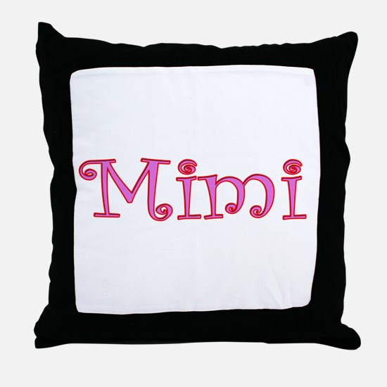 Mimi cutout click to view Throw Pillow