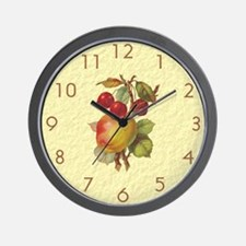 Vintage Fruit 1 Wall Clock