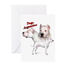 Dogo Trio2 Greeting Card