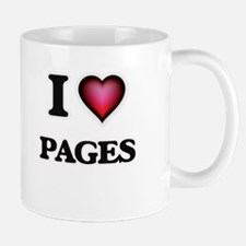 I Love Pages Mugs