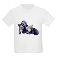 Black Bear Cubs Kids T-Shirt