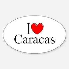 """""""I Love Caracas"""" Oval Decal"""