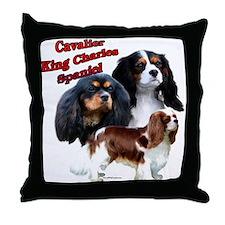 Cavalier Trio2 Throw Pillow