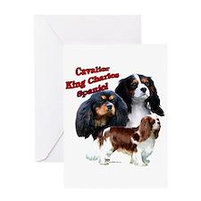 Cavalier Trio2 Greeting Card