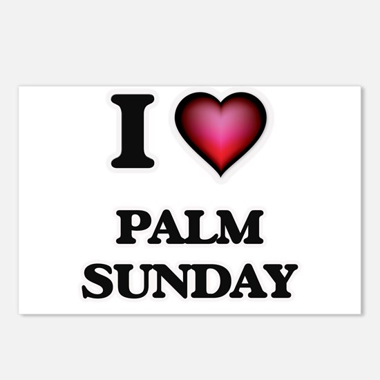 I Love Palm Sunday Postcards (Package of 8)