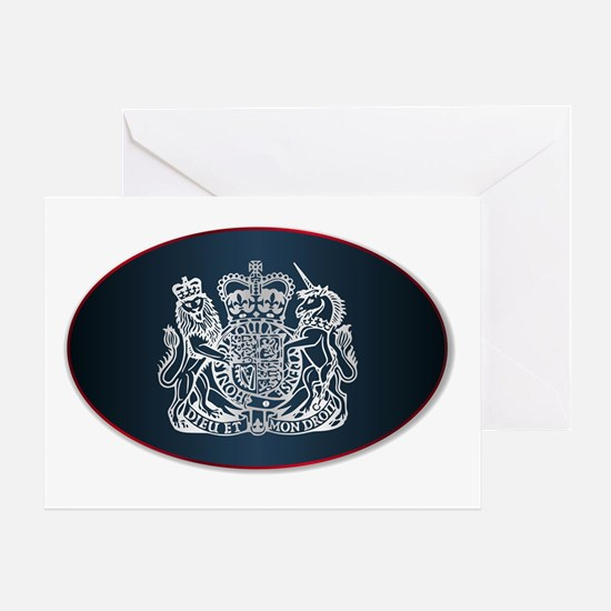 Cute Welsh dragon coat of arms Greeting Card