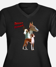 Ibizan Trio2 Women's Plus Size V-Neck Dark T-Shirt