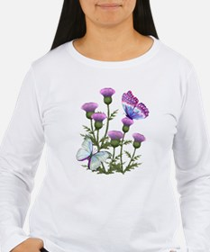 Thistles and Butterflies Long Sleeve T-Shirt