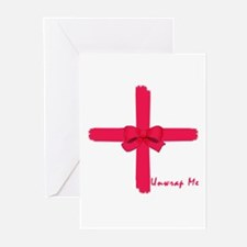 Unwrap Me Sexy Christmas Gift Greeting Cards (Pk o