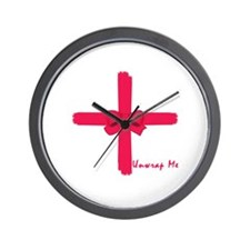 Unwrap Me Sexy Christmas Gift Wall Clock