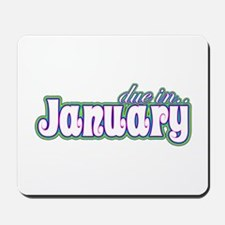 Due In January Rainbow Mousepad