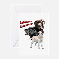 Lab Trio2 Greeting Card