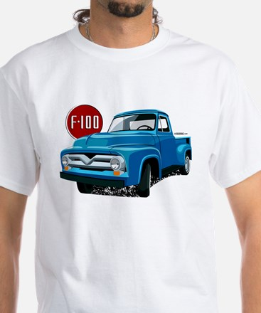 Illustration of a 2nd generation blue Ford F-100 T