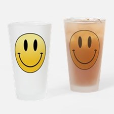 Cute Yellow smiley Drinking Glass