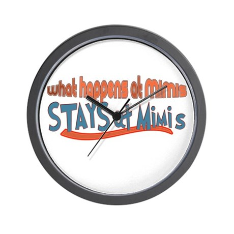 What happens at Mimi's Wall Clock