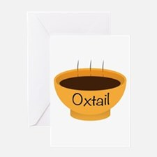 Oxtail Soup Bowl Greeting Cards
