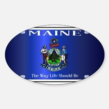 Maine Flag License Plate Decal