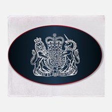 Coat of Arms of the United Kingdom Throw Blanket