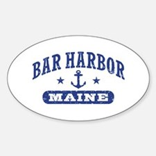 Bar Harbor Maine Sticker (Oval)