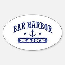 Bar Harbor Maine Sticker (Oval)