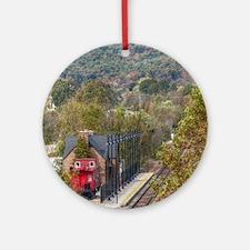 Train Station Round Ornament