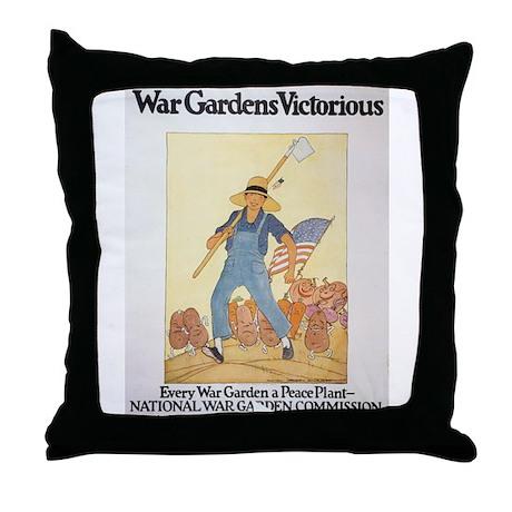 War Gardens Victorious Throw Pillow