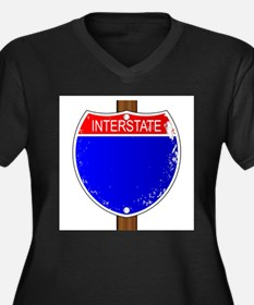 Interstate Sign Plus Size T-Shirt