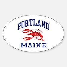 Portland Maine Sticker (Oval)